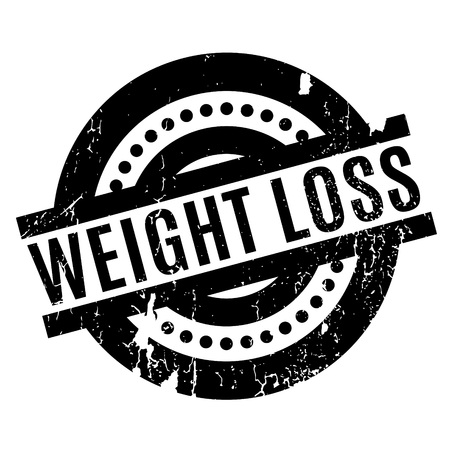 Weight Loss rubber stamp Illustration