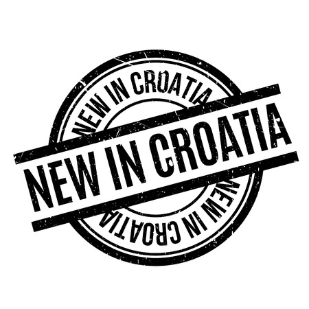 New In Croatia rubber stamp