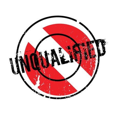 unfit: Unqualified rubber stamp Illustration