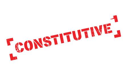 Constitutive rubber stamp Illustration