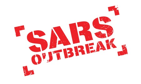 Sars Outbreak rubber stamp