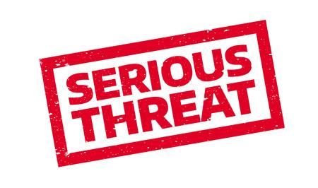 Sello de goma serio de la amenaza