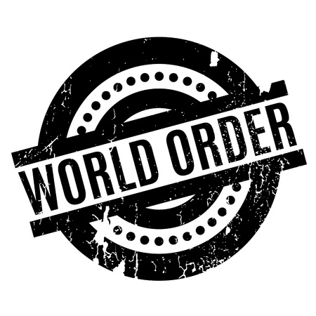 authority: World Order rubber stamp Illustration