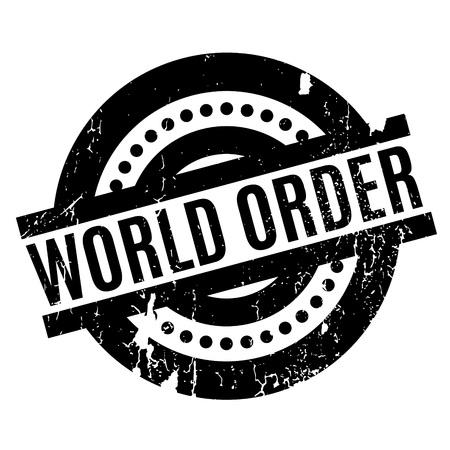 dominance: World Order rubber stamp Illustration