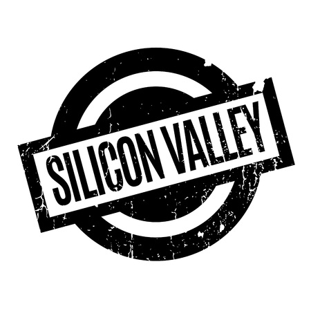 illustrative: Silicon Valley rubber stamp. Grunge design with dust scratches. Effects can be easily removed for a clean, crisp look. Color is easily changed.