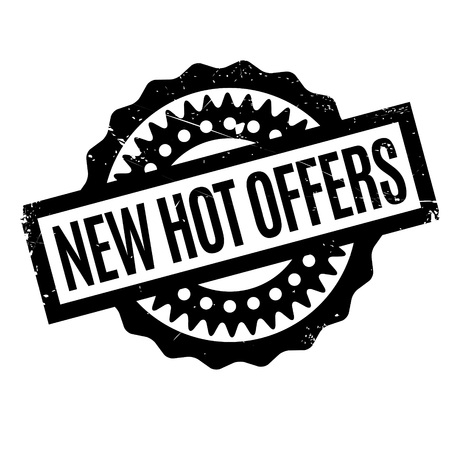 New Hot Offers rubber stamp. Grunge design with dust scratches. Effects can be easily removed for a clean, crisp look. Color is easily changed.