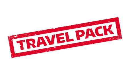 Travel Pack rubber stamp