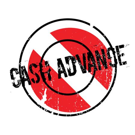 Cash Advance rubber stamp Illustration