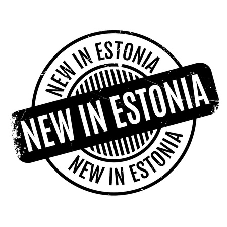 New In Estonia rubber stamp