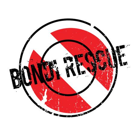 Bondi Rescue rubber stamp Illustration