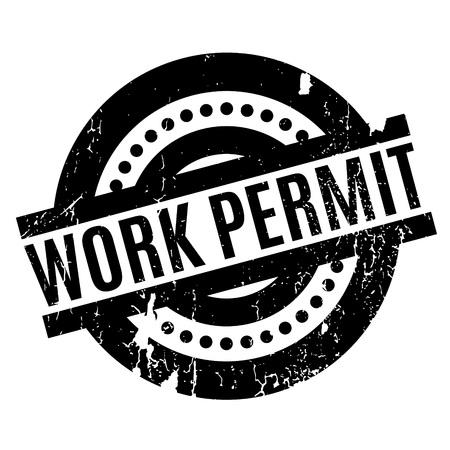Work Permit rubber stamp