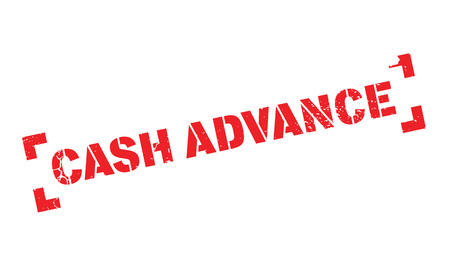 beforehand: Cash Advance rubber stamp Illustration