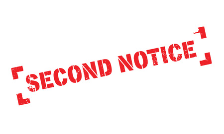 further: Second Notice rubber stamp Illustration