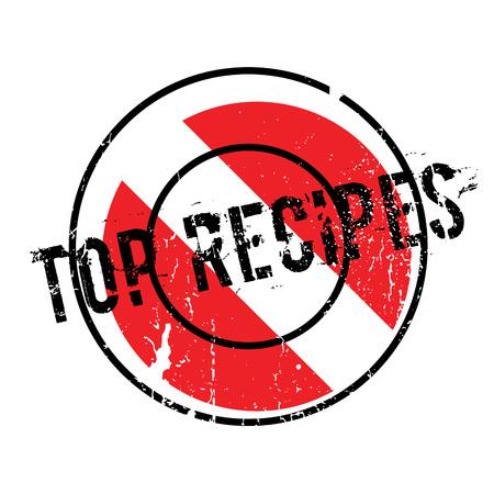 Top Recipes rubber stamp Ilustração