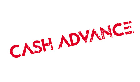Cash Advance rubber stamp Иллюстрация