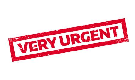 persuasive: Very Urgent rubber stamp
