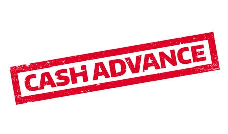 forefront: Cash Advance rubber stamp Illustration