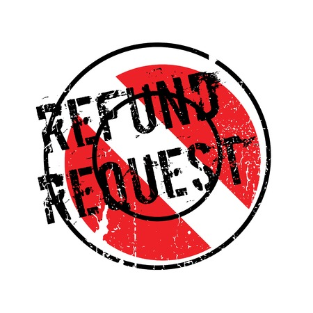 recourse: Refund Request rubber stamp