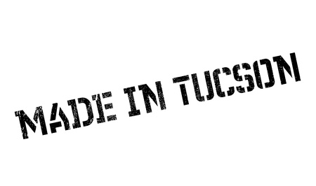 Made In Tucson rubber stamp. Grunge design with dust scratches. Effects can be easily removed for a clean, crisp look. Color is easily changed.