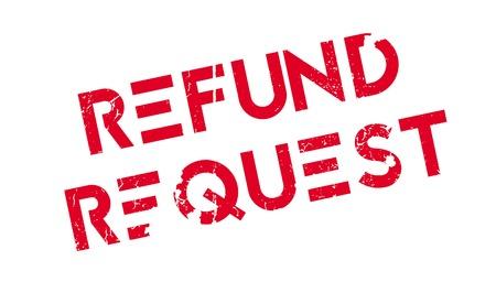 solicitation: Refund Request rubber stamp