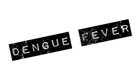 Dengue Fever rubber stamp Ilustração
