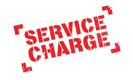 Service Charge rubber stamp