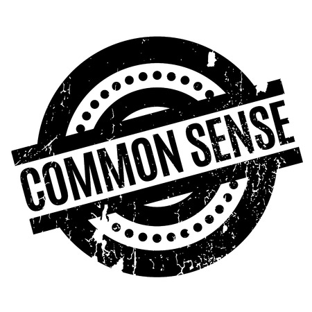 common sense: Common Sense rubber stamp