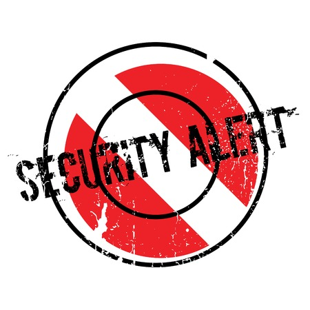 Security Alert rubber stamp