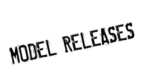 Model Releases rubber stamp Illustration