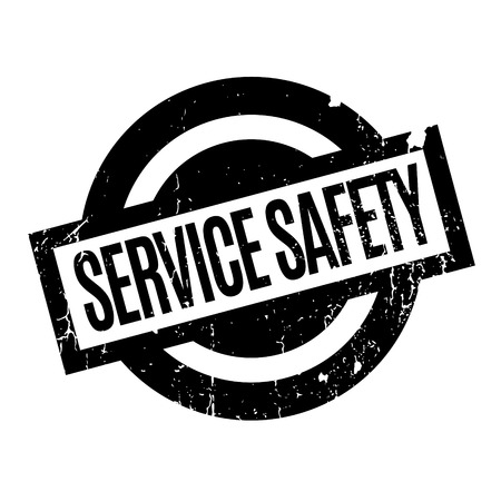 Service Safety rubber stamp Çizim