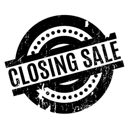 Closing Sale rubber stamp Banco de Imagens - 81350711