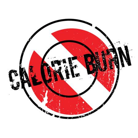 Calorie Burn rubber stamp Illustration