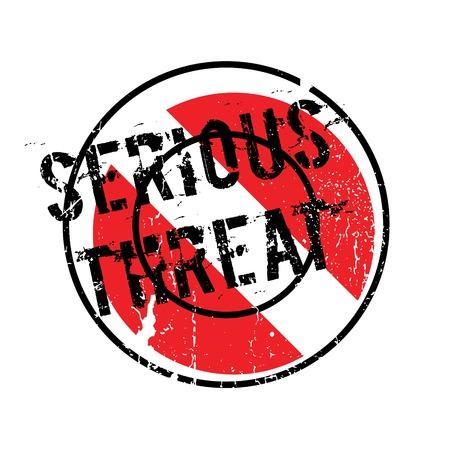 alarming: Serious Threat rubber stamp Illustration