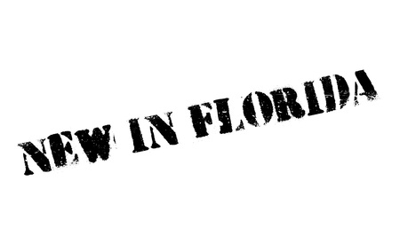 bahamas: New In Florida rubber stamp Illustration