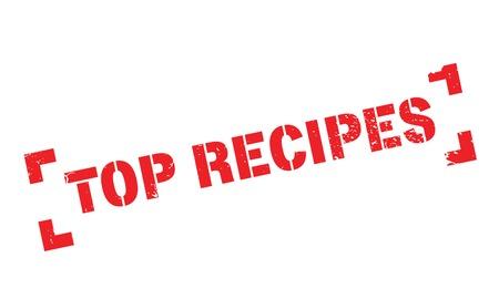 Top Recipes rubber stamp Illusztráció