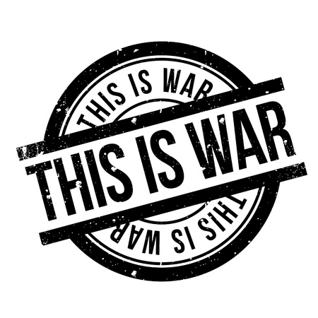 This Is War rubber stamp Иллюстрация