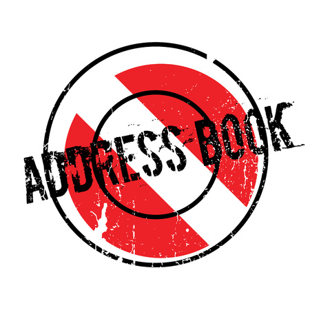 Address Book rubber stamp