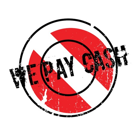 We Pay Cash rubber stamp Illustration