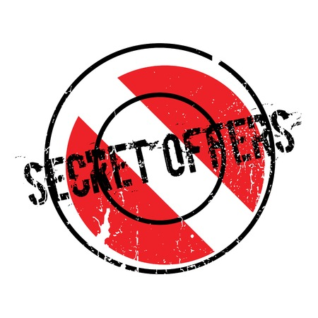 Secret Offers rubber stamp Illustration