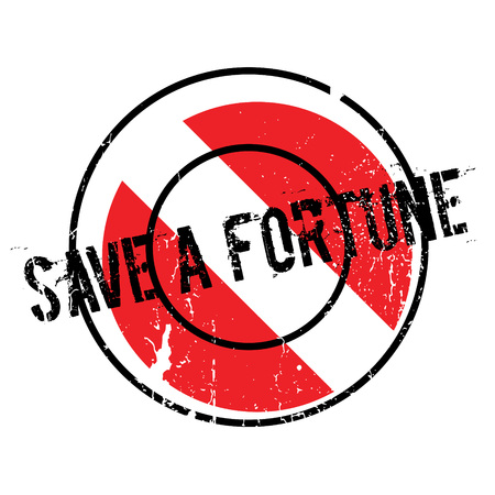 Save A Fortune rubber stamp
