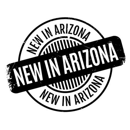 New In Arizona rubber stamp 版權商用圖片 - 81350780