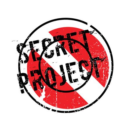 furtive: Secret Project rubber stamp Illustration