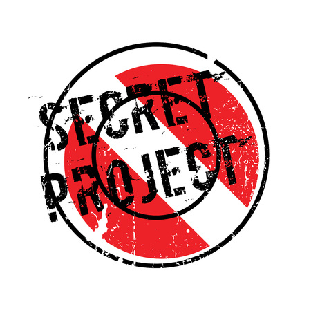 Secret Project rubber stamp Illustration