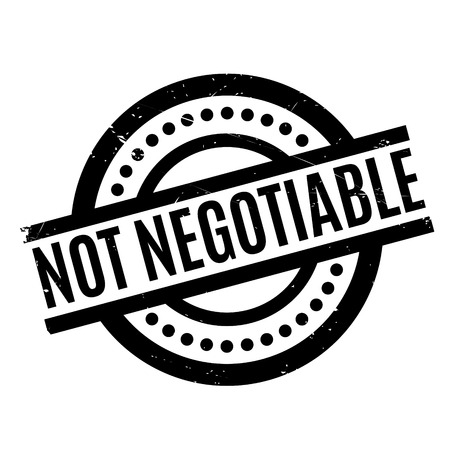 Not Negotiable rubber stamp