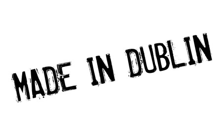 Made In Dublin rubber stamp Illustration