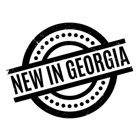 New In Georgia rubber stamp Illustration