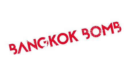 バンコク爆弾ゴム印