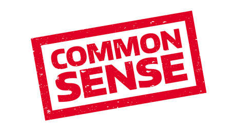 Common Sense rubber stamp