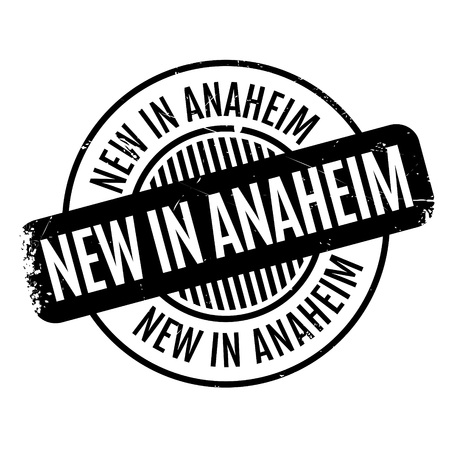 New In Anaheim rubber stamp Illustration