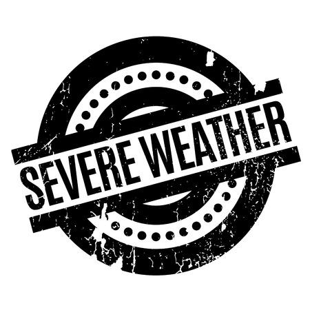 severe: Severe Weather rubber stamp Illustration